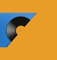 vinyl record disc music background vector image vector image