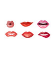 woman lips set female mouth with different vector image vector image