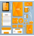 Yellow set of corporate identity templates vector image