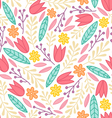 Floral doodle pattern vector | Price: 1 Credit (USD $1)