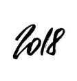 2018 happy new year beautiful greeting card vector image vector image