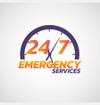 247 emergency services logo icon vector image