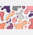 abstract minimal organic shapes pattern vector image vector image