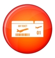 Airline boarding pass icon flat style vector image vector image