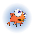 an of a happy goldfish cartoon vector image