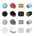 ball rubber toy and other web icon in cartoon vector image