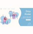 banner stay home concept homeschooling vector image