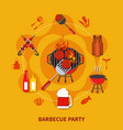 barbecue party flat vector image vector image