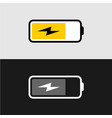 battery charging icon line style battery charge vector image vector image