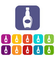 big bottle icons set flat vector image vector image