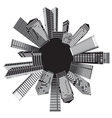 black and white cities vector image