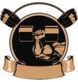 Bodybuilding iron biceps vector image vector image