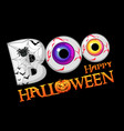 boo halloween banner background with eyes vector image