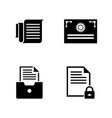 business documents simple related icons vector image