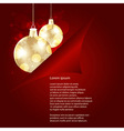 christamas background with golden balls beh vector image vector image