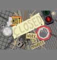 closed under construction cartoon vector image