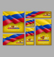 colombian independence day celebration posters set vector image vector image