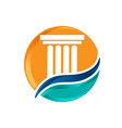 courthouse icons building university bank vector image