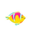 cute fish clown cartoon vector image vector image