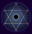 david star and torus yantra sacred geometry vector image vector image