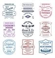 Denim Typography Emblems vector image vector image