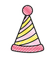 doodle party hat lines decoration style vector image vector image