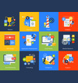 flat design concept icons vector image