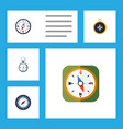 flat icon orientation set of compass direction vector image