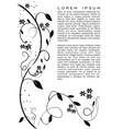 flourish motif monochrome black ornament on white vector image