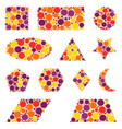geometric shapes made from dots isolated on white vector image