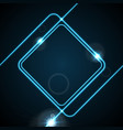 glow neon blue lines abstract frame background vector image vector image