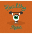 Gymnastics for the healthy eyes vector image