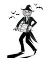 halloween pumpkin playing music vector image vector image