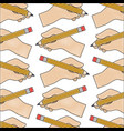 hand with pencil write pattern vector image