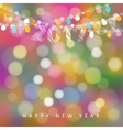 happy new year greeting card with string vector image vector image
