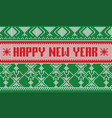 happy new year jumper pattern striped scarf vector image