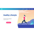 healthy lifestyle lp template vector image vector image
