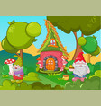home gnome concept banner cartoon style vector image vector image
