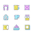 home textile products rgb color icons set vector image vector image