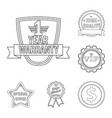 isolated object of emblem and badge logo set of vector image vector image