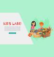 kids land toys web banner vector image vector image