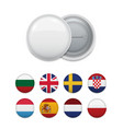 layout of round flags for badge template vector image vector image