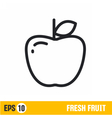 line icon apple vector image vector image