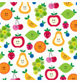 mhd fruit with faces clipart preview vector image vector image