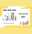 moving home and office concept vector image vector image