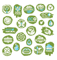 organic icon set vector image