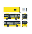 passenger city bus for branding identity and vector image