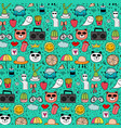 pattern with hand drawn doodle lovely background vector image