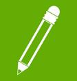 pencil with eraser icon green vector image