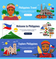 philippines horizontal banners vector image vector image